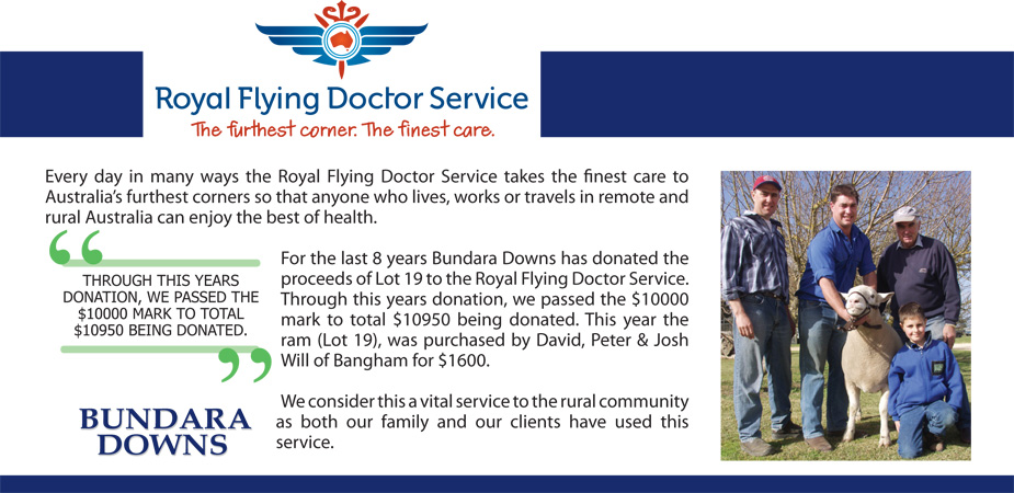 Bundara Downs Royal Flyer Doctor Donation